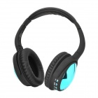 AT-BT805 Stereo Bluetooth V3.0 Headphone w/ TF / FM Radio / Mic - Black + Deep Green