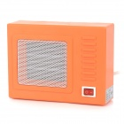 C1GL Winter Retro TV Set Electric Fan Heater - Orange + White