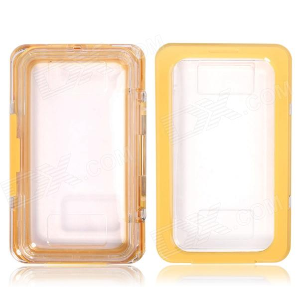 Protective Waterproof Case for Samsung Galaxy Note 3 N9000 / Note2 N7100 - Yellow + Transparent