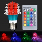 XLZM-RGB3SJD-YK 3W 180lm 1-LED RGB Light w/ Remote Controller - Blue + Red (85~265V)