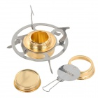 ALOCS CS-B03 Outdoor Portable Alcohol Stove w/ Lid - Golden + Silver