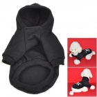 FBI Pattern Cotton Clothes w/ Hood for Pet Dog - Black (M)