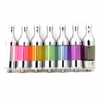 X9 Stainless Steel E-Cigarette Atomizer for 510 Series - White + Black + Multicolored (7 PCS)