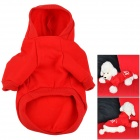 FBI Pattern Cotton Clothes w/ Hood for Pet Dog - Red (M)