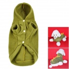 Cute Dinosaur Style Plush Dog Apparel Pet Cloth - Green + Yellow (Size M)