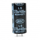 270UF/400WV Electrolytic Capacitor - Black