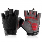 INBIKE Cycling Breathable Half-Finger Gloves - Black + Grey (Size XL)