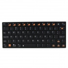 KB07 Mini Handheld Wireless Bluetooth V3.0 78-Key Keyboard - Black (2 x AAA)