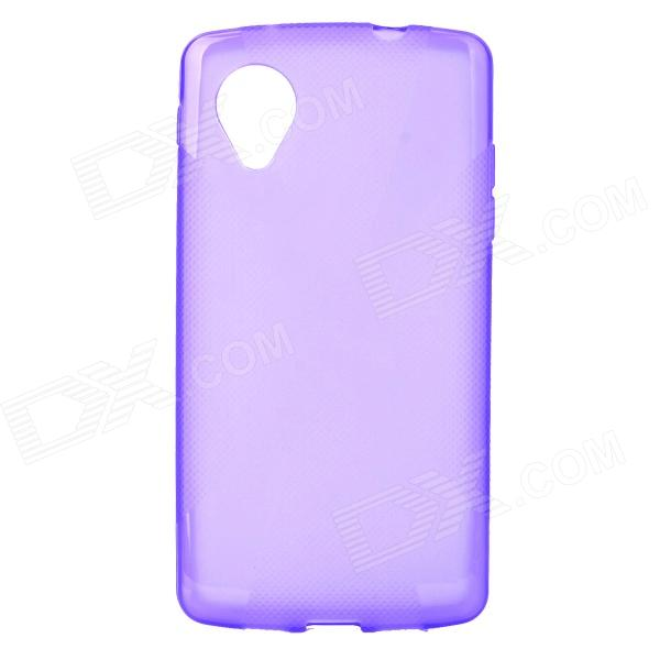 ''X'' Shaped Anti-skid Protective PVC + TPU Back Case for LG Nexus5 E980 / D820 - Purple protective pc tpu back case for iphone 5 w anti dust cover lavender purple
