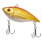 043 6-Hook Lifelike Fish Style Fishing Bait - Gold + Silver
