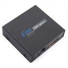 Ourspop MK703 1-in to 2-out 1080P HDMI V1.3 Switch Splitter Switcher - Black (US Plug)