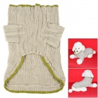 Cotton Hooded Sweater Coat for Pet Dog - Beige + Green (Size M)