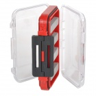 039 ABS Fishing Bait Box - Black + Red
