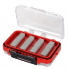 ABS Fishing Bait Box - Black + Red