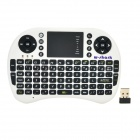 SY-500RF Mini Wireless 2.4GHz Keyboard Air Mouse - White + Black