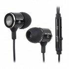OVLENG IP680 Stylish In-Ear Earphones w/ Microphone for Samsung / Iphone / HTC - Black + Silver
