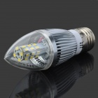 YouOkLight E27 5W 380lm 6500K 28-SMD 2835 LED White Light Bulb - Silver + White (100~240V)
