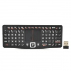 RT-MWK03 2.4GHz Wireless 79-Key Keyboard Air Mouse - Black + White