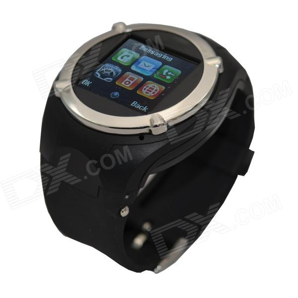 NQ998 GSM 1.5 Resistive Touch Screen Watch Phone w/ Bluetooth / Camera / FM - Black i5 gsm watch phone w 1 8 resistive screen quad band fm and single sim black