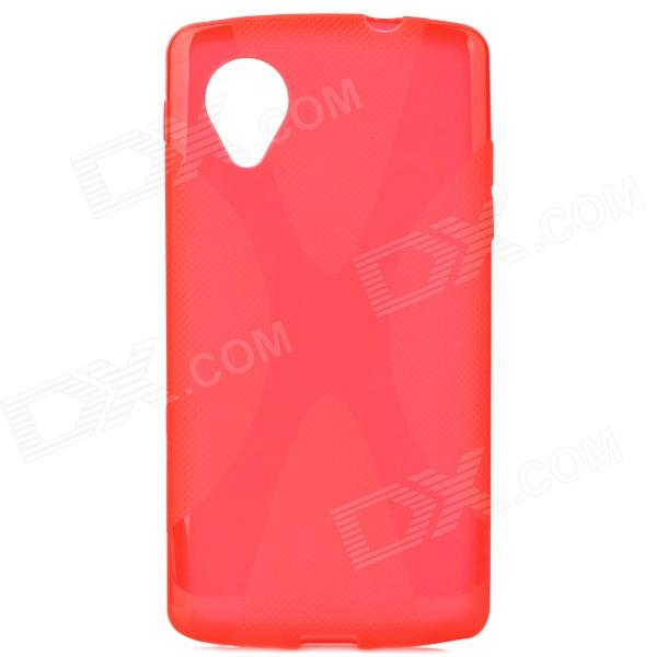X Style Anti-Slip Protective PVC + TPU Back Case for LG Nexus 5 E980 / D820 - Red x style anti slip protective pvc tpu back case for lg nexus 5 e980 d820 black