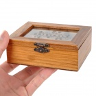 Retro Wooden 6-Compartment Storage Box (Size S)