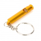 Handy Outdoor Aluminum Alloy Survival Whistle - Golden