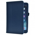 Lichee Pattern PU Protective Case w/ Stand for Retina Ipad MINI - Blue