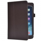 Lichee Pattern PU Protective Case w/ Stand for Retina Ipad MINI - Brown