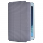 Ball Pattern + Line Pattern PU Protective Case w/ Stand for Retina Ipad MINI - Deep Grey