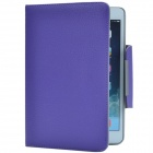Patch-buttoned PU Protective Case w/ Stand for Retina Ipad MINI - Purple