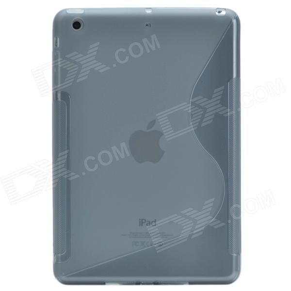 Creative S Shape Silicone Back Case / Matte Protective Case for Retina Ipad MINI - Translucent Grey protective silicone case for nds lite translucent white