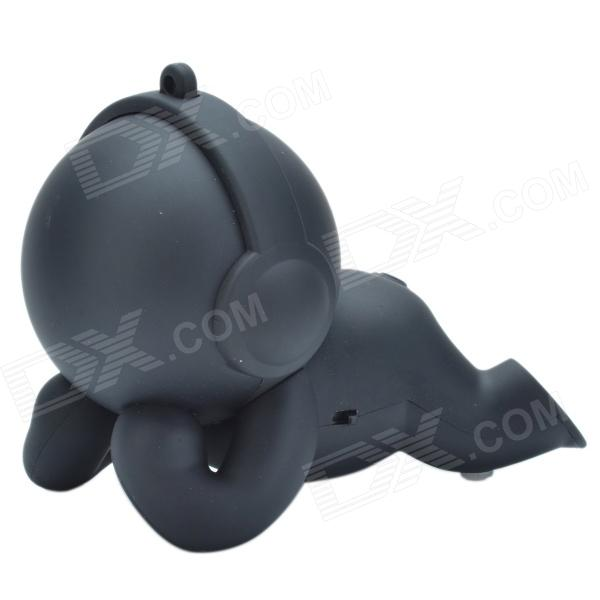 Y-32 Fashionable Cute Doll Style Music Baby Mini Rechargeable Speaker - Black
