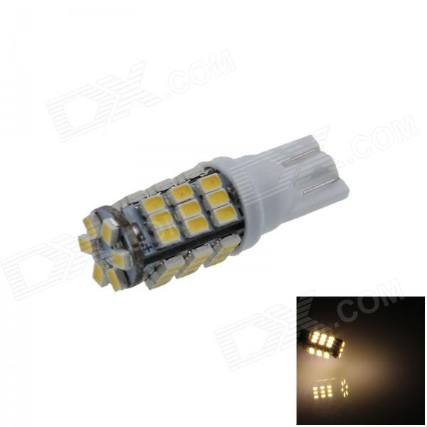 T10 / 194/555 / W5W 1W 120lm 42 x SMD 1206 LED blanc chaud clair de la voiture lampe / Side Light - (12V)