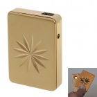 SHAYU USB Rechargeable Windproof Zinc Alloy Electronic Cigarette Lighter - Golden