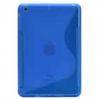 Creative S Shape Silicone Back Case / Matte Protective Case for Retina Ipad MINI - Translucent Blue