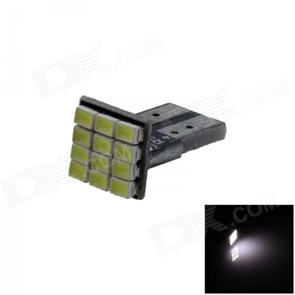 T10 / 194 / W5W 0.6W 100lm 12 x 1206 LED branco PCB Car Instrumento Lamp / Side Light - (12V)