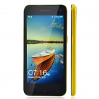 "JIAKE JK-10 Android 4.2 Bar Phone w/ 5.0"" Capacitive Screen, Quad-Core, Dual Camera, Wi-Fi - Yellow"