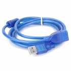 USB 2.0 Male to Female Anti-jamming Magnetic Ring Extension Cable - Blue (145cm)