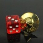 Inception Stainless Steel Spinning Top Totem w/ Plastic Dice - Golden + Red