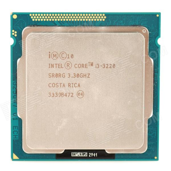 Intel Core i3 3220 3.3 GHz Dual-Core Processor CPU for Desktop Computer - Silver + Yellow msi zh77a g43 original desktop motherboard ddr3 lga 1155 for i3 i5 i7 cpu 32gb usb3 0 sata3 h77 motherboard