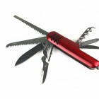 11-in-1 multi-función cuchillo del acero inoxidable - Red + Silver