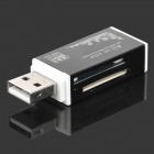 Multifunctional USB 2.0 Card Reader w/ SD / MS / Micro SD / TF / M2 - Black + White (32GB Max.)