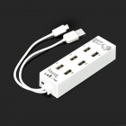 Universal USB 2.0 Male to 8 USB 2.0 Female Hub w/ Micro USB Charging & Data Sync Cable - White