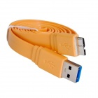 USB-3.0-Stecker an Micro-USB 9-Pin Data Sync / Ladekabel für Samsung Galaxy Note N9000 3 - Orange