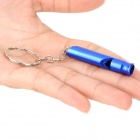 Creeper Handy Outdoor Aluminum Alloy Survival Whistle - Deep Blue