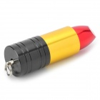 Lipstick Style USB 2.0 Flash Drive - Black + Golden + Multicolored (16GB)