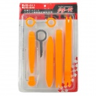 8-in-1 DIY Dismantle Tools Set for Car Video/Audio Navi System - Orange Yellow