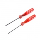008 C-6 Cross / Trigram Screw Drivers for Nintendo Series NDS NDSL / Wii Game - Red + Black