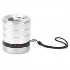 Singo F61 3W Mini Speaker w/ FM Radio / TF / Mini USB - Silver + Black