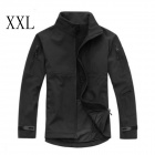 ESDY-0104 Fleece Windproof Waterproof Soft Shell Commander Jacket - Black (XXL)